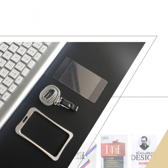 Aluminum Alloy Metal ID Card Badge for Staff or School