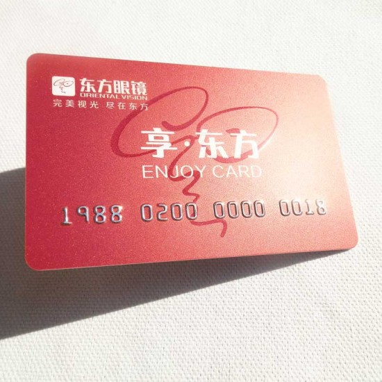 Plastic Embossed Loyalty VIP Card Design Template Name Cards Size