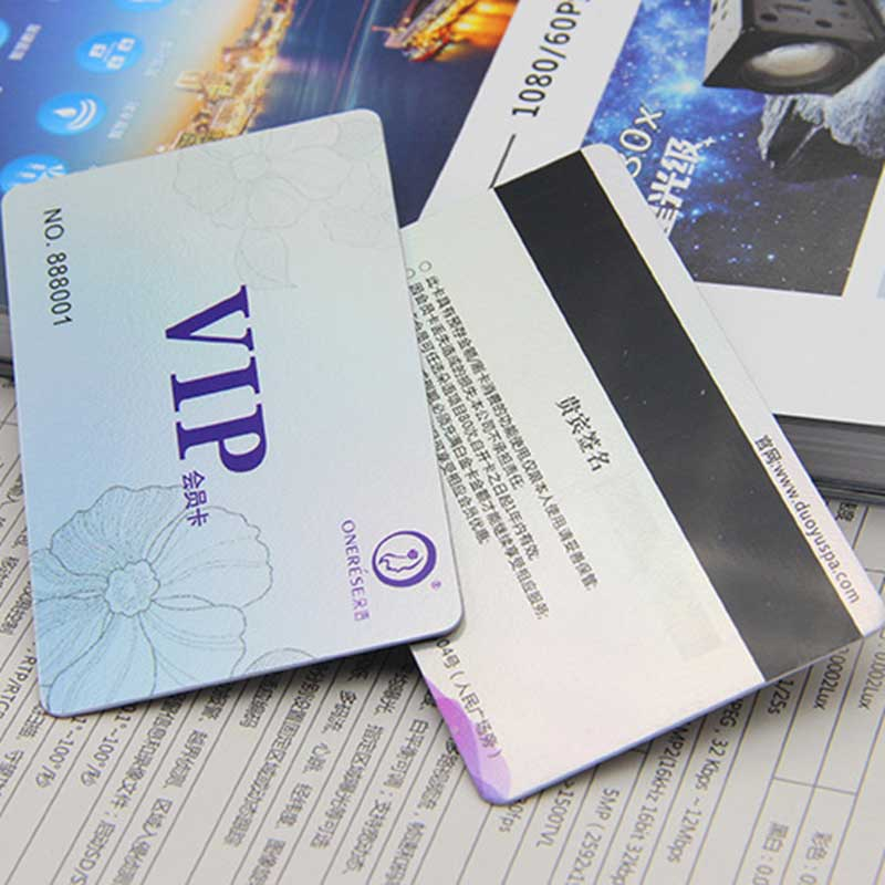 Plastic VIP membership card for clup