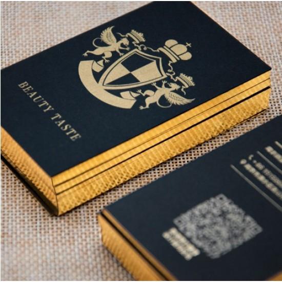 700gsm High Level Foil Edge Letterpress Business Name Card