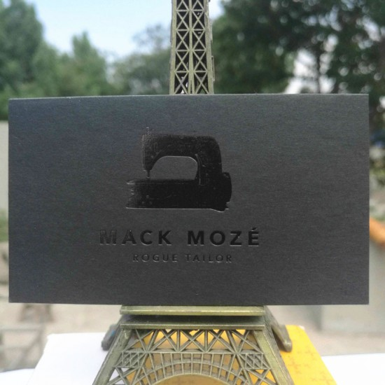 Black Paper Business Cards with Foil Both Sides Visiting Card Sample
