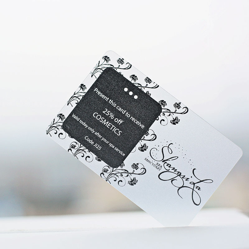 Matte Plastic transparent business card 200 pcs per lot