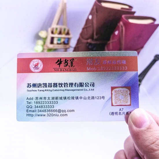 Frosted Cheap Transparent Visiting Cards Size Printing Factory