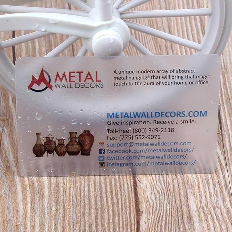 Matte transparent plastic card 500 pcs per lot