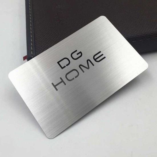 Steel Business Card with Cutout Design Free Visiting Cards Purpose
