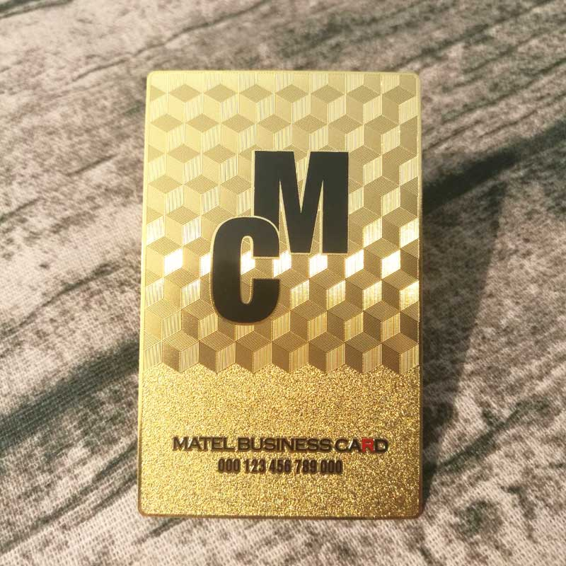Custom gold metal card supplier