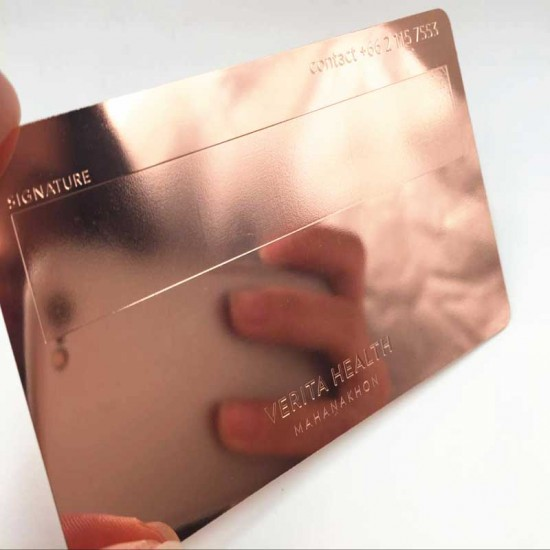 Rose Gold Plated Metal Business Cards Finishing Wedding Ideas Purpose