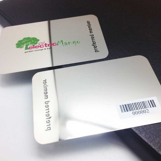 Deluxe Glossy Silver Gold Metal Cards Bar Code Wedding Cards Design