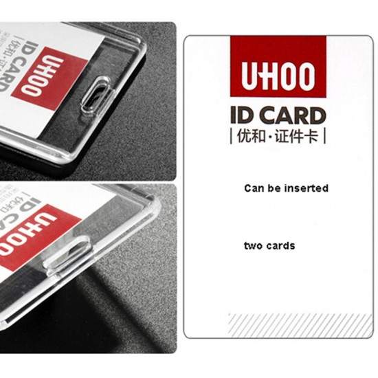 Acrylic Transparent Bank Credit Card Holders Badge Card Bus ID Holders