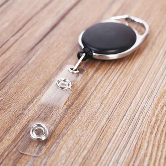 New Retractable Badge Reel Recoil ID Badge Name Tag Key Card Holder