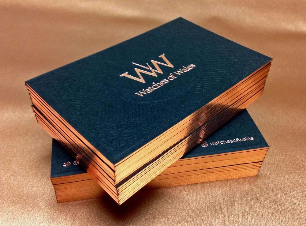 700g paper gift card brone golden foil edge