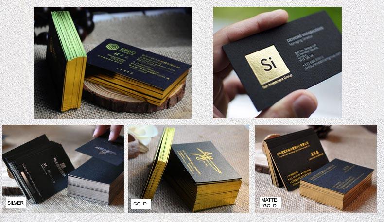 700g paper foil edge business cards show