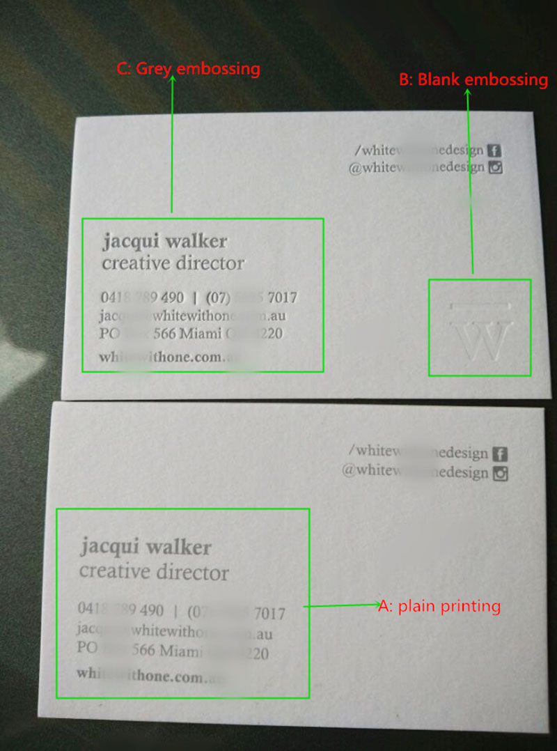 Ceocard paper embossing business card or you can choose new business card like these colourmoves